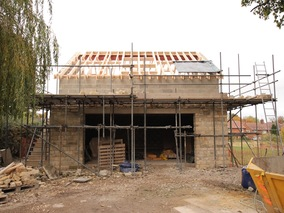 Home Office - Steps, Walls & Roof Trusses