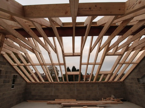 Home Office - Roof Trusses including Frames for Velux Windows