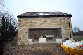 Home Office - Completed External Structure.  Garage Space awaiting Electric Garage Door